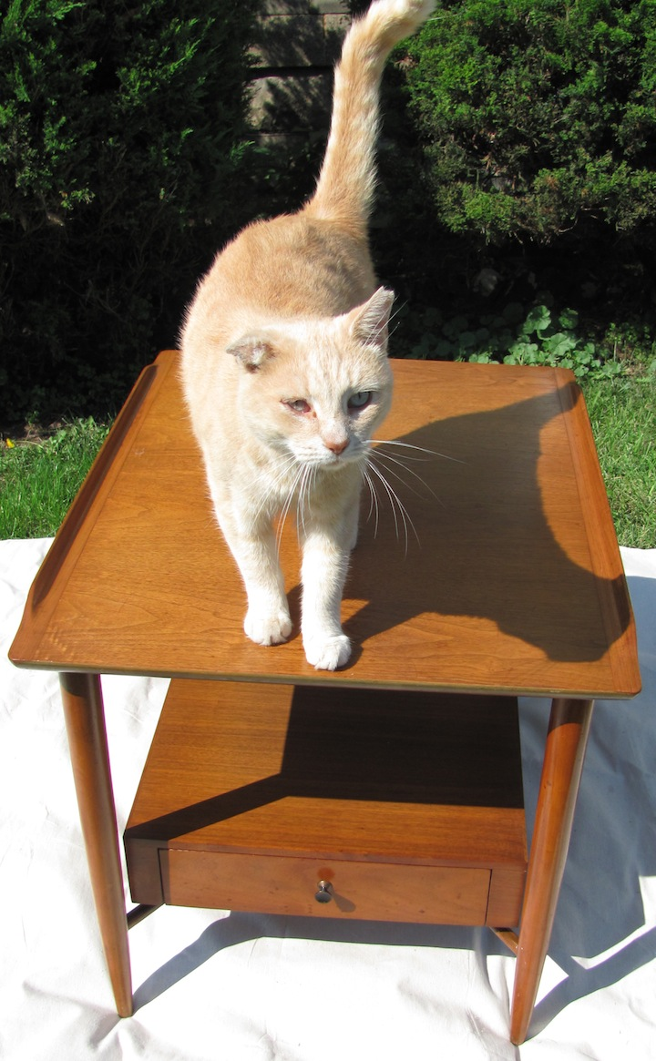 This Side Table (or Lamp Table) Was Made By The Morganton Furniture Company,  Of Morganton North Carolina, Probably Around 1957 60.