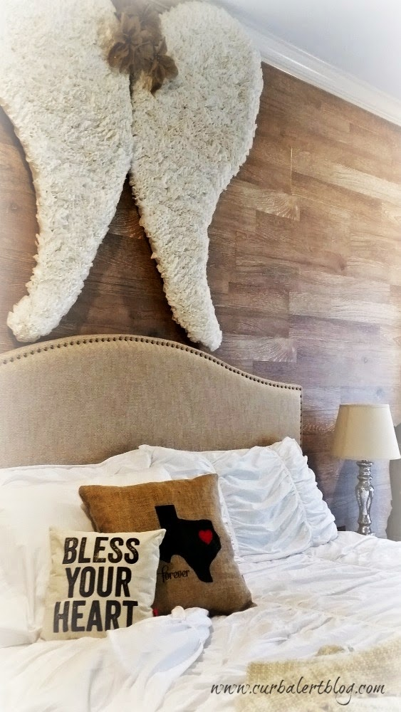 Coffee Filter Angel Wings Tutorial Bless Your Heart Pillow via Curb Alert! Blog