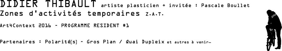 Didier Thibault : PROGRAMME RESIDENT #1