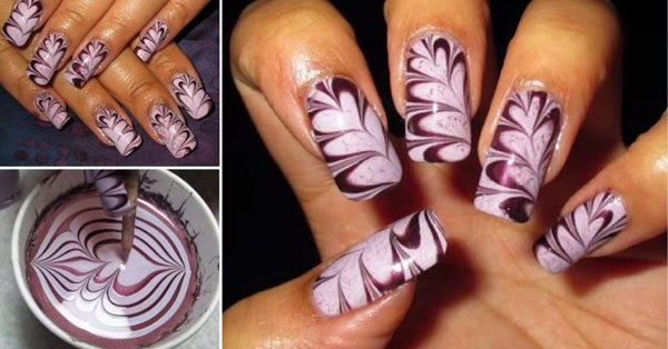 See The Detailed Step By Technique And A Water Marble Nail Art Video To Help You In Creating Your First Successful Perfect