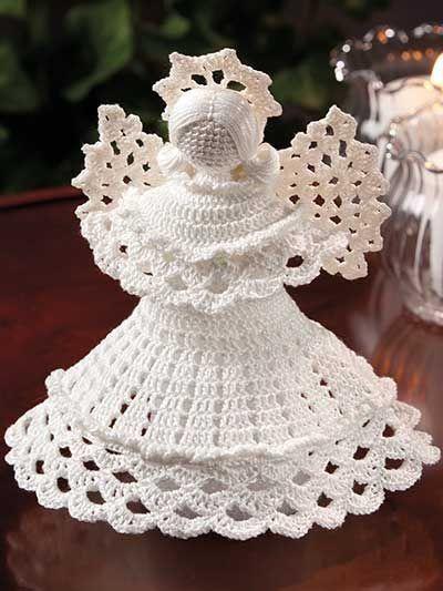 Easy Free Crochet Angel Pattern : Dinha Ponto Cruz: Anjos em croch?- receitas