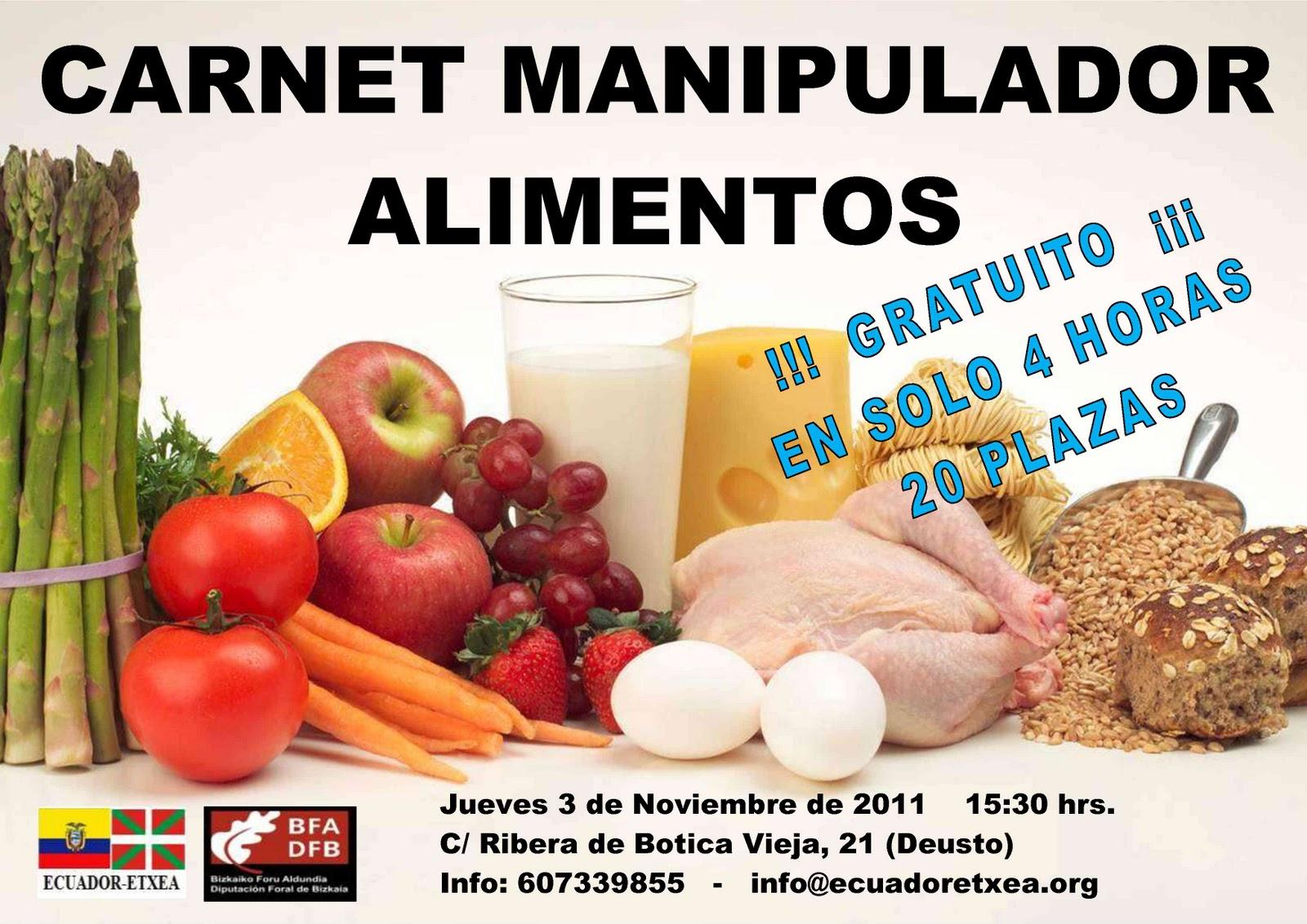 Ecuador etxea oficial curso carnet de manipulador de alimentos gratuito dfb - Certificado de manipulador de alimentos gratis online ...