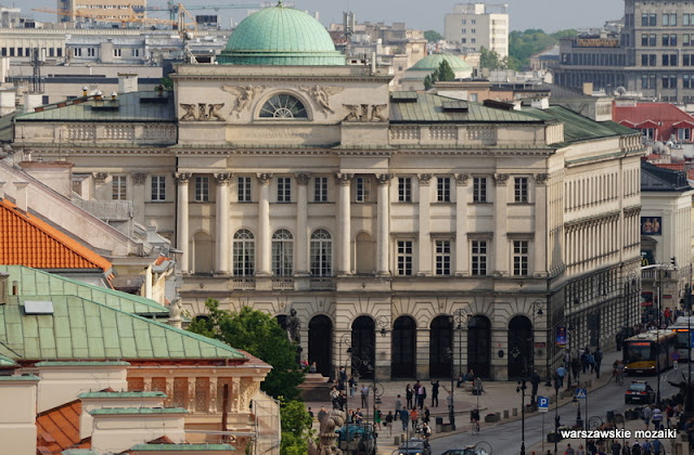 widok panorama Warszawa Śródmieście pałas Staszica PAN