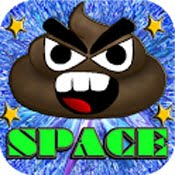 Angry Poo Space Icon Logo