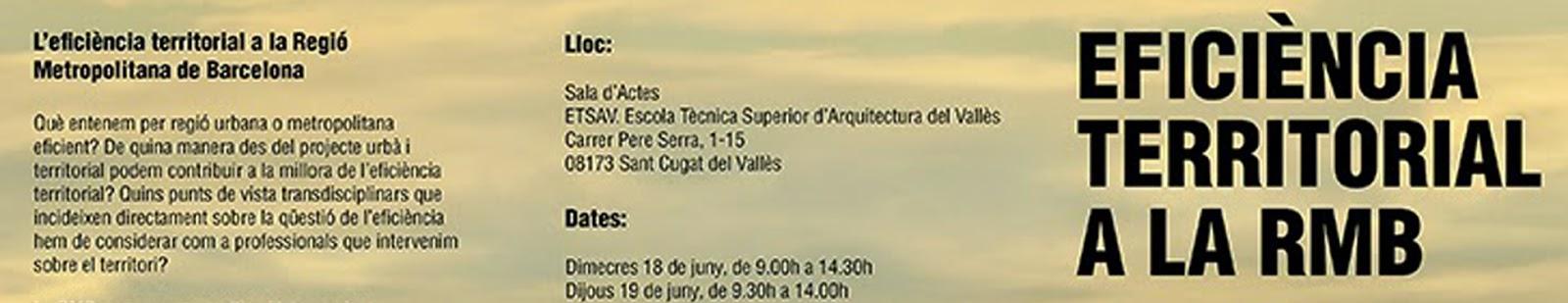 SEMINARI EFICIÈNCIA TERRITORIAL A LA RMB_CMT JUNY 2014