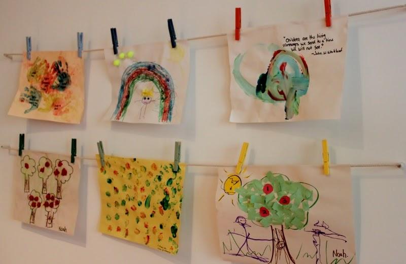 My eco girl creative ways to display kids art for Creative ways to display artwork