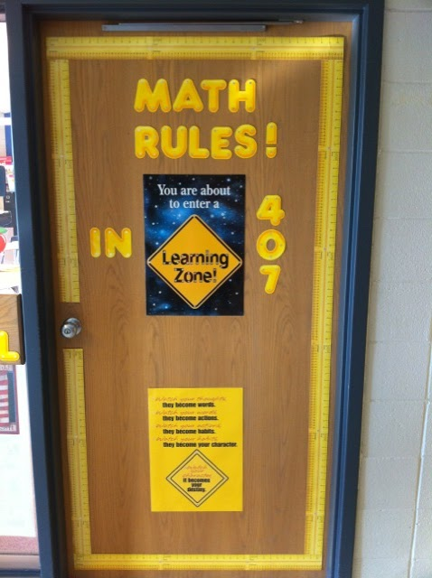 Math Classroom Door Decorations ~ Middle school math rules a few new photos and couple
