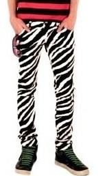 Zebra Skinny Jeans Ye Jean