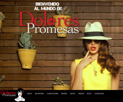nueva web y tienda online de Dolores Promesas