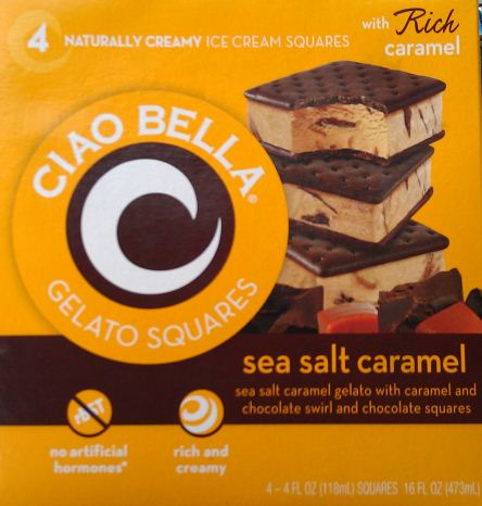 Giao bella sea salt caramel ice cream sandwiches