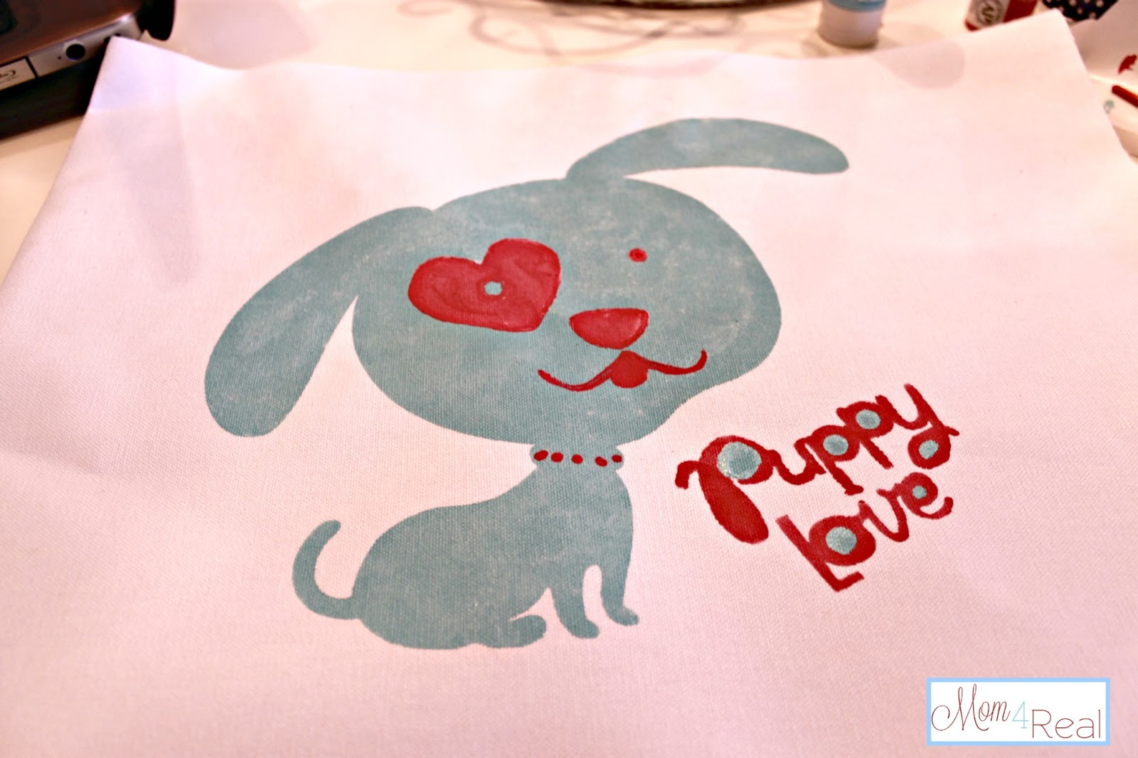Puppy Love Pillow (Freezer Paper Stencil & Open Ended Pillow Tutorials ...