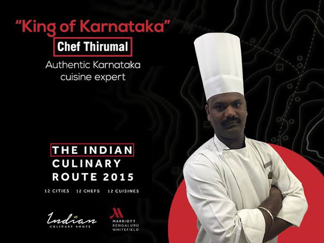 Indian Culinary Route Whitefield Marriott Bangalore, Chef Thirumal