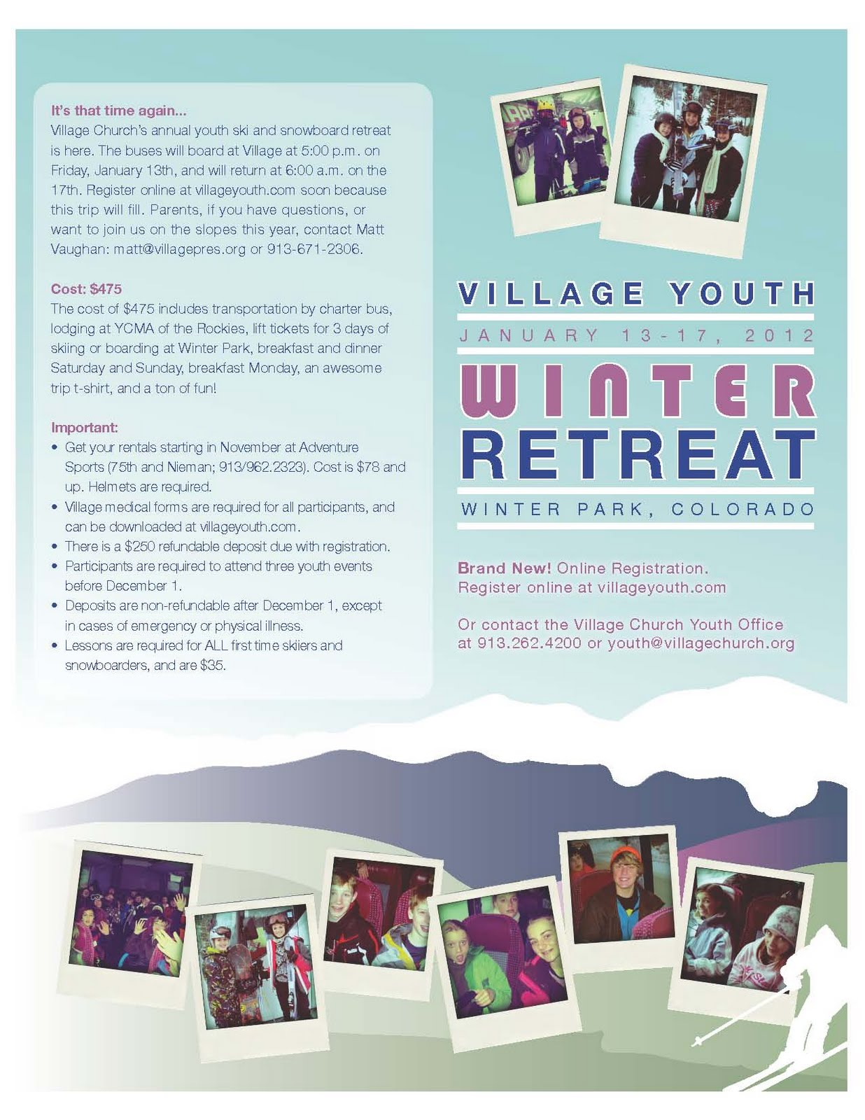 alexander the great youth group flyers some of my latest work for the youth group flyers for our winter retreat to winter park colorado our bump city bonanza and the 2012 mission trip to