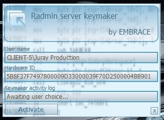 radmin license key registry