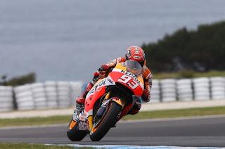 Marquez Tercepat Sesi Latihan Bebas FP4 MotoGP Australia 2015, Rossi Keenam