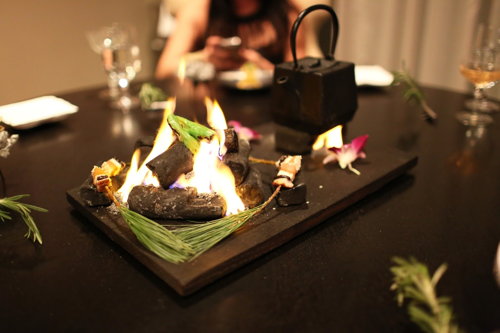 Japanese foodie japanese inspired dishes at alinea chicago illinois usa - Table cuisine alinea ...