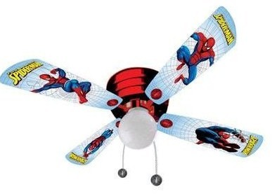 Ceiling fans in kids rooms if you start your search on the web you will probably be able to find a fan bearing images of your sons favorite hero aloadofball Gallery
