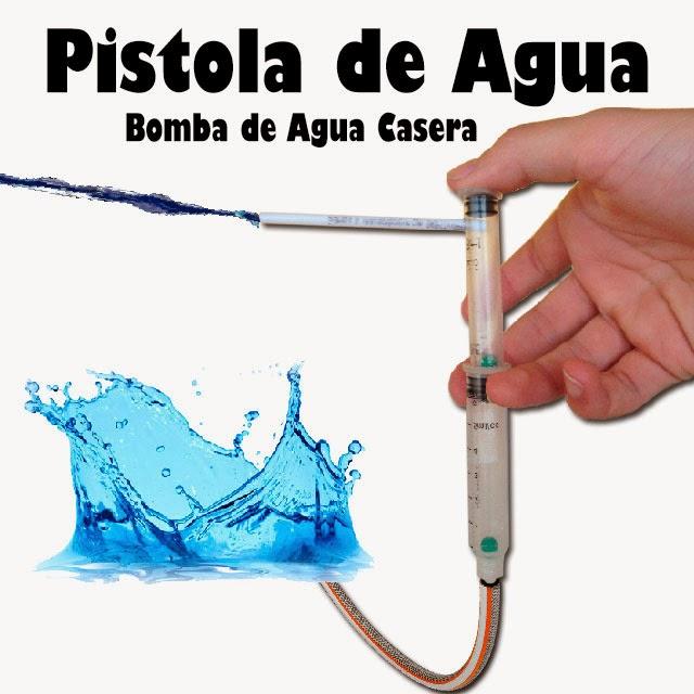Como Hacer una Pistola de Agua, Bomba de Agua Casera.