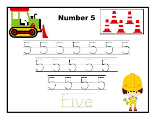 Number tracing sheet 1 10
