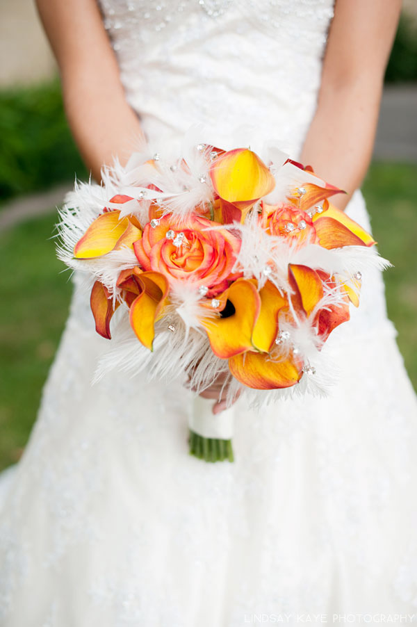 Orange Bouquet // Photography by Lindsay Kaye // via www.lemagnifiqueblog.com