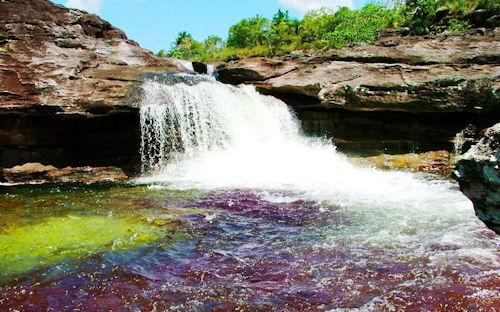 El río más hermoso de la tierra en Macarena, Colombia.