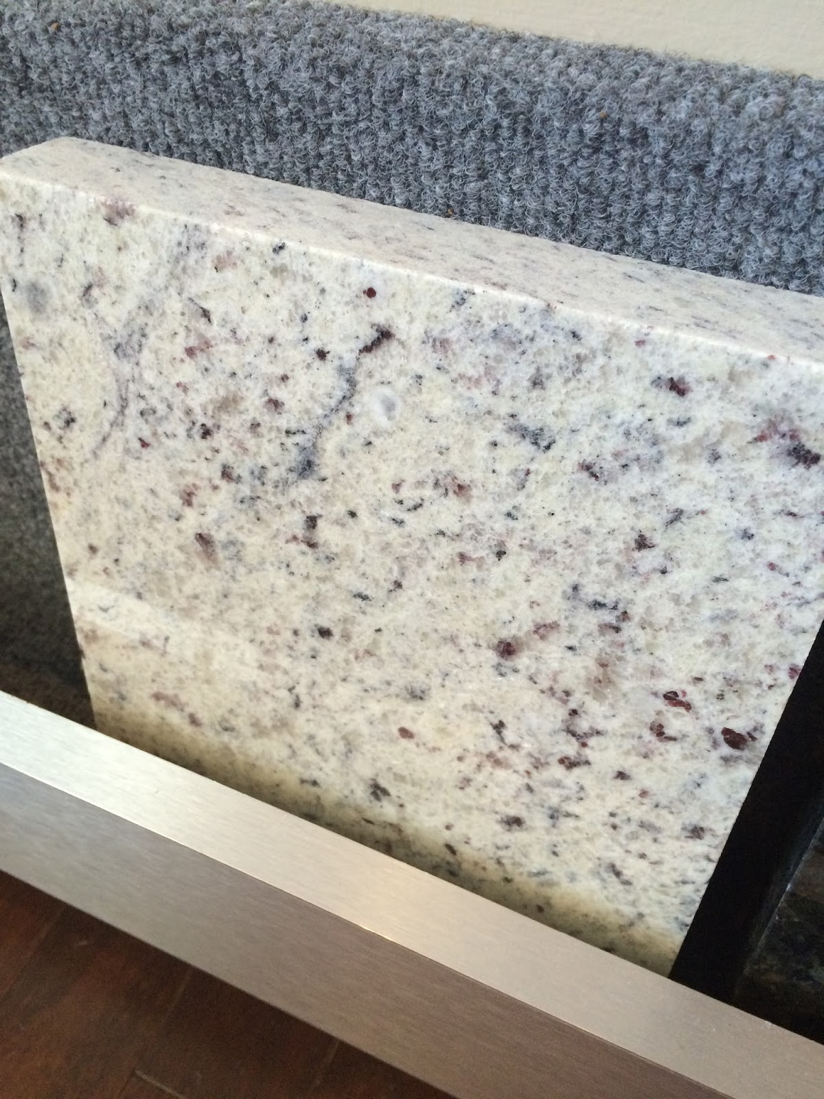 Moonlight Granite Slab : Kitchen planning in a new construction home pretty real