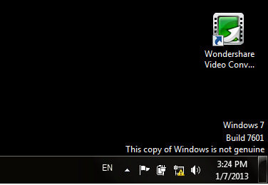 Remove Windows 7 Build 7601 This Copy Of Windows Is Not Genuine