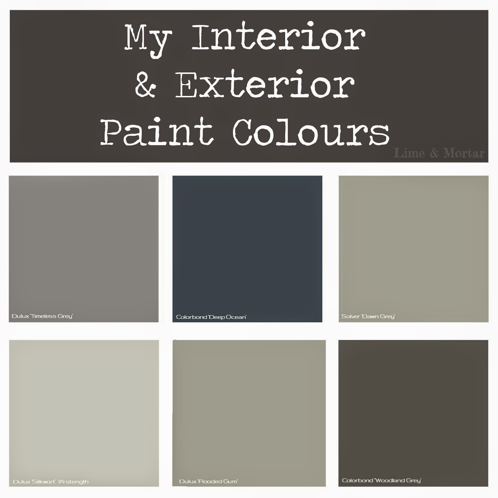 Lime mortar my paint colours - Exterior house paint colours plan ...