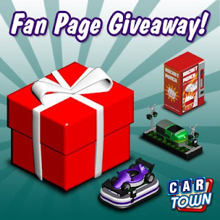 Car Town: Code Promo Fan Page Giveaway