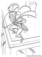 Robin Beraksi Mengejar Penjahat Dari Ari Atas-Puncak-Gedung