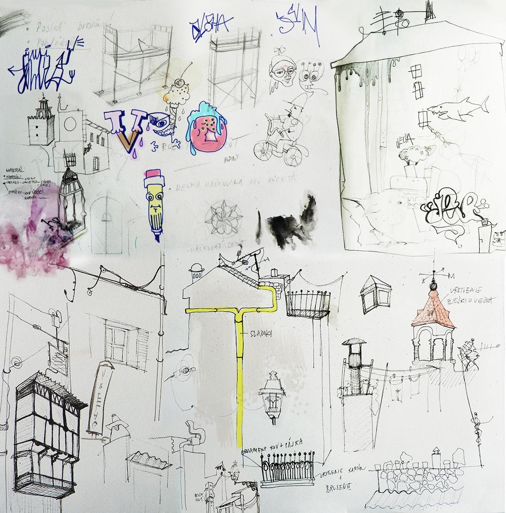 08-Katarina-Pridavkova-Fantasy-Architecture-in-Plaster-and-Clay-Town-www-designstack-co