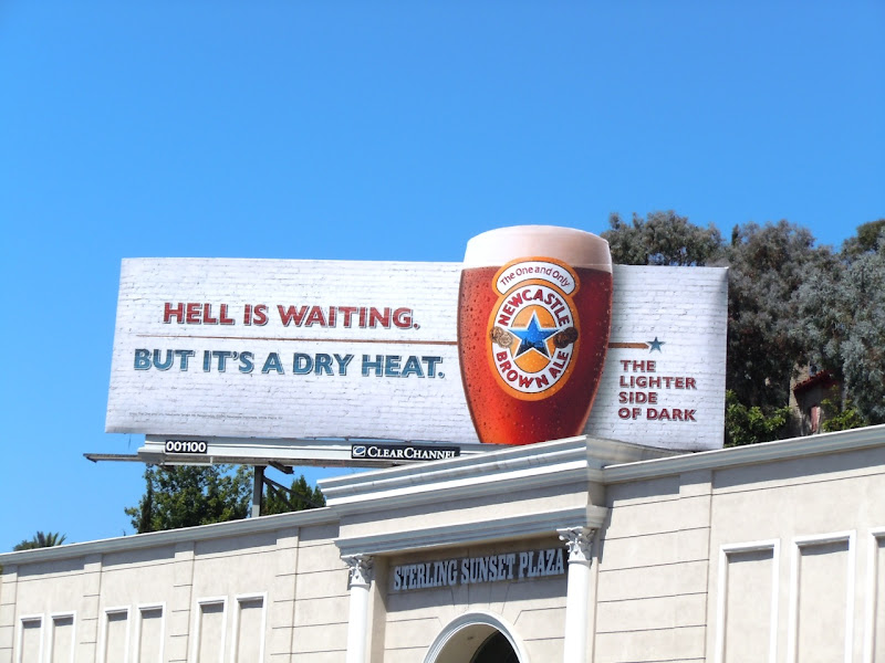 Hell waiting Newcastle Brown billboard