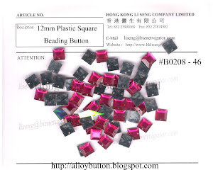 Plastic Square Beading Button Supplier - Hong Kong Li Seng Co Ltd