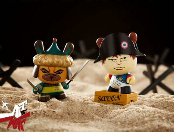 """Art of War"" Dunny 2014 Series by Kidrobot by kaNO & Frank Kozik"