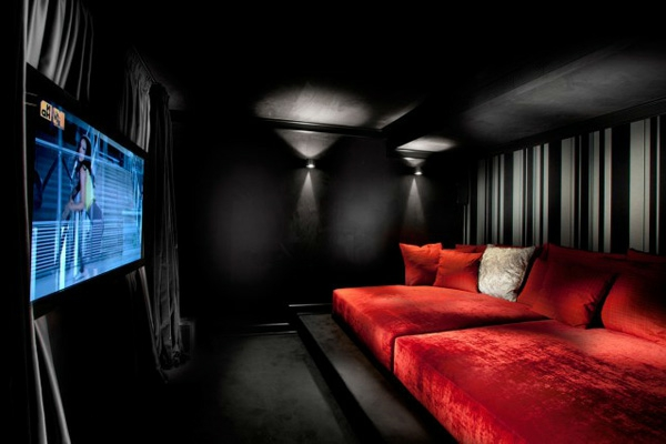 Top 25 Home Theater Room Decor Ideas And Designs: home theater colors