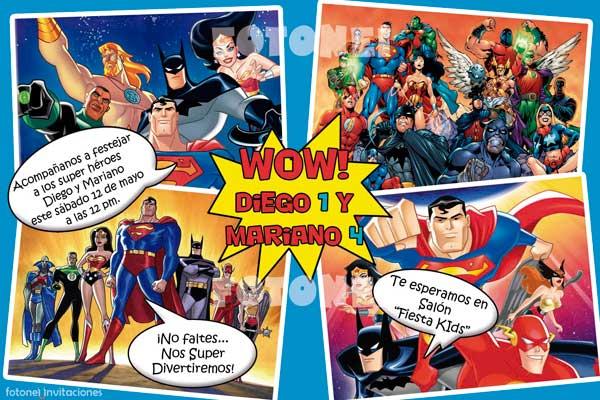 Invitaciones Para Imprimir De Super Heroes