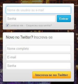 Entrar no Twitter