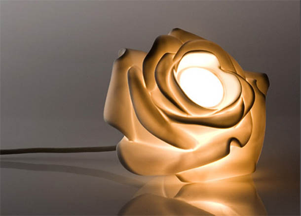 Beautiful And Exotic Lamp In Rose Flower Design By Lasvit