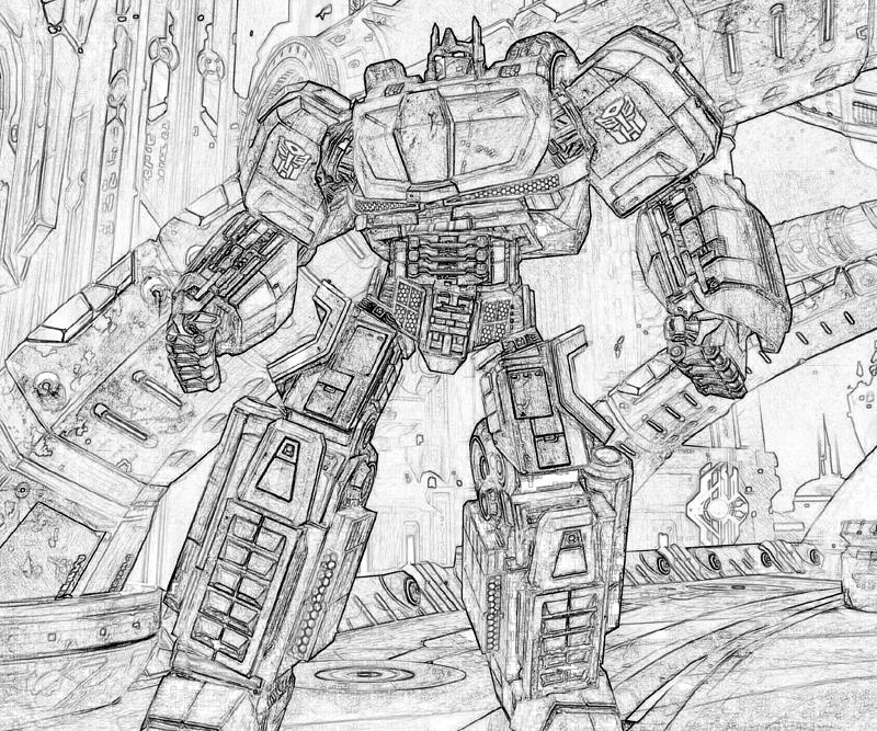 transformer gears coloring pages - photo#23