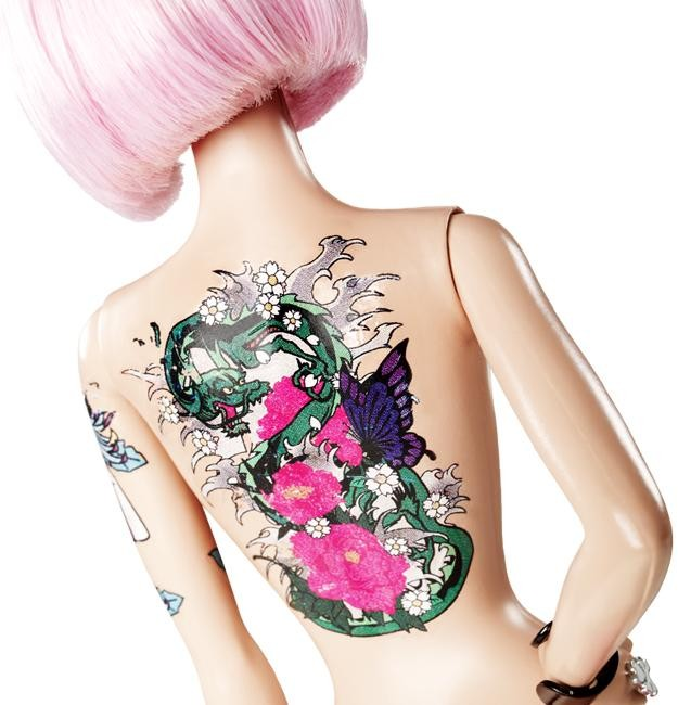 tokidoki barbie with tattoo