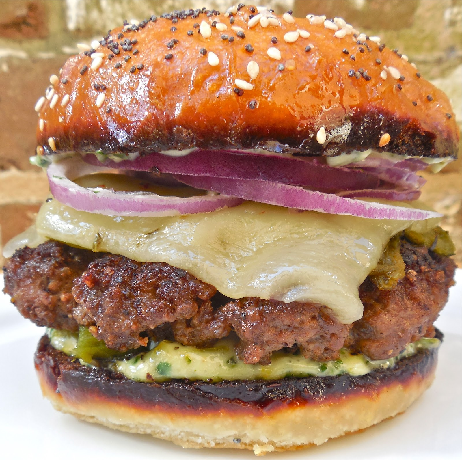 Turner Inspired Burgers with Cilantro-Candied Jalapeno Mayo, Roasted ...