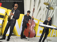 Jason Geh Jazz Trio performing at the event