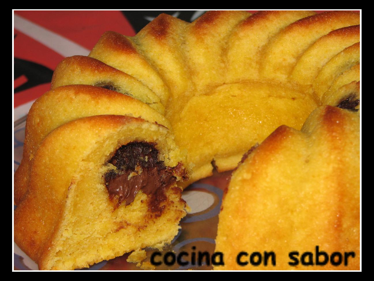 Cocina con sabor bizcocho de mandarina con nutella for Cocina con sergio bizcocho