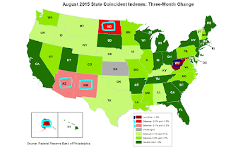 Philly Fed State Conincident Map