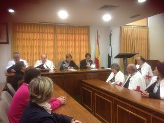 Recepción de miembros de la Orden Templaria en el Ayuntamiento de Jerez de los Caballeros