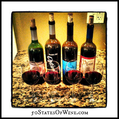 Finger Lakes Wine Alliance Virtual Tasting Reds Flight 1
