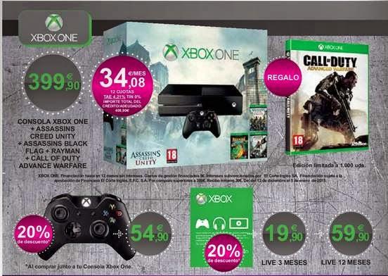 Consola XBOX El Corte Ingles 2014-15