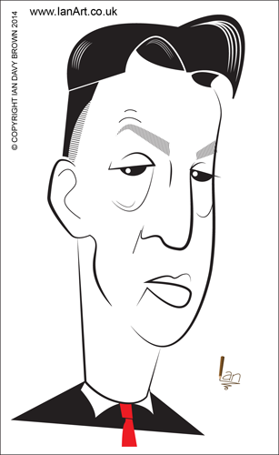 Louis Van Gaal Caricature by Ian Davy Brown