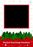szablon kartki świątecznej do pobrania