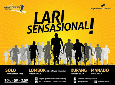 Angkasa Pura Running Series 4 Manado, lomba lari di banadara Sam Ratulangi Manado